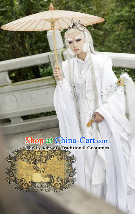 Top Grade Traditional China Ancient Cosplay Dandies Costumes, China Ancient Swordsman Elegant Hanfu Clothing for Men