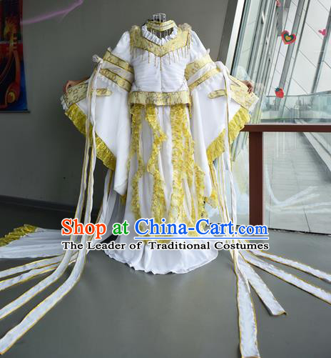 Top Grade Traditional China Ancient Palace Lady Princess Costumes, China Ancient Cosplay Imperial Consort Dress Clothing for Women