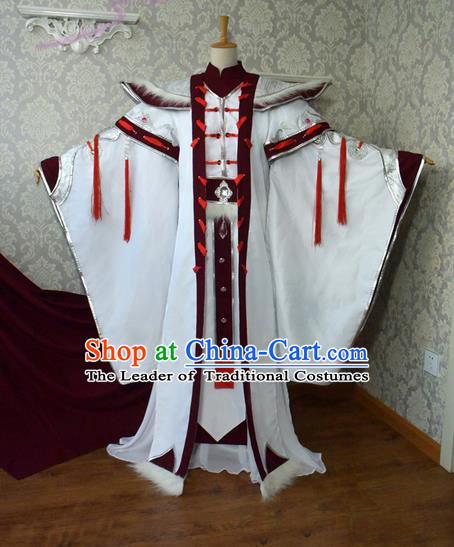 Top Grade Traditional China Ancient Cosplay Royal Highness Costumes, China Ancient Hanfu Prince Robe Clothing for Men
