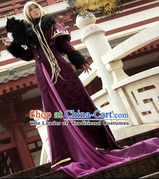 Top Grade Traditional China Ancient Cosplay Swordsman Costumes, China Ancient Hanfu Nobility Childe Robe Clothing for Men