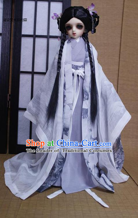 Top Grade Traditional China Ancient Palace Lady Costumes Complete Set, China Ancient Cosplay Han Dynasty Princess Dress Clothing for Adults and Kids