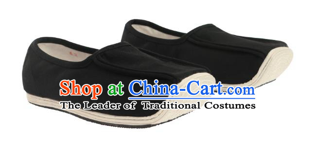 Chinese Ancient Peking Opera Cloth Shoes, Traditional Chinese Beijing Opera Hanfu Shoe for Men