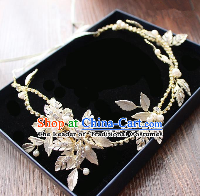 Top Grade Handmade Wedding Bride Hair Accessories, Traditional Princess Crystal Hair Clasp Headpiece for Women
