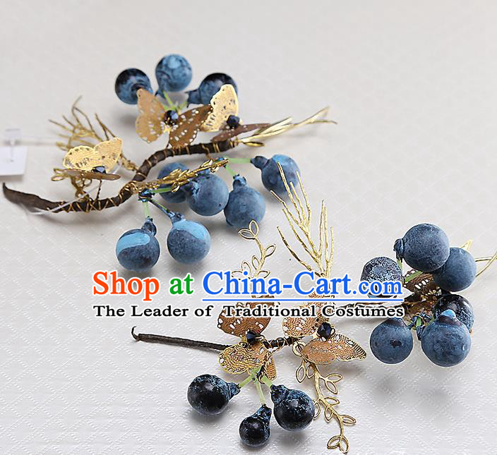 Top Grade Handmade Wedding Hair Accessories Bride Hair Stick, Traditional Baroque Princess Headband Headpiece for Women