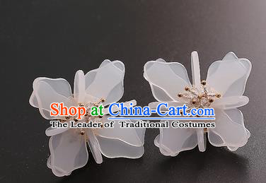 Top Grade Handmade China Wedding Bride Accessories Earrings, Traditional Princess Wedding Ear Stud Jewelry for Women