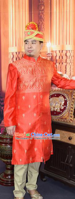 Traditional Traditional Thailand Clothing and Hat, Southeast Asia Thai Ancient Costumes for Men
