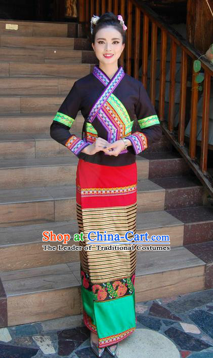 Traditional Traditional Thailand Female Clothing Southeast Asia Thai Ancient Costumes Dai Nationality Black Sari Dress for Women  sc 1 st  China-Cart & Traditional Traditional Thailand Female Clothing Southeast Asia ...