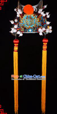 Traditional Chinese Ancient Peking Opera Accessories Eunuch Hat, Traditional Chinese Beijing Opera Court Eunuch Headwear Crown