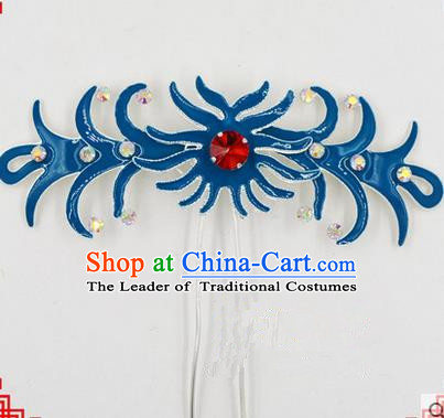 Top Grade Chinese Ancient Peking Opera Hair Accessories Diva Hairpins, Traditional Chinese Beijing Opera Hua Tan Hair Clasp Head-ornaments