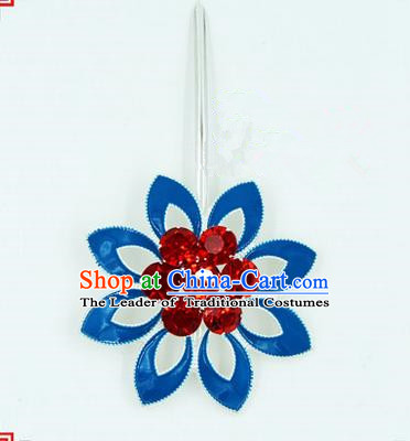 Top Grade Chinese Ancient Peking Opera Hair Accessories Diva Crystal Hairpins, Traditional Chinese Beijing Opera Hua Tan Hair Clasp Head-ornaments