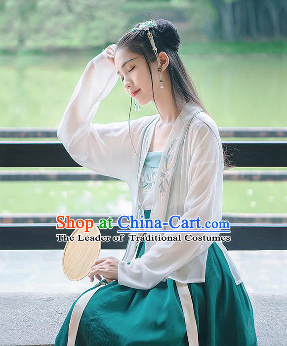 Traditional Chinese Song Dynasty Palace Princess Costume Blouse and Dress Complete Set, Elegant Hanfu Clothing Embroidered Dress, Chinese Ancient Princess Clothing for Women