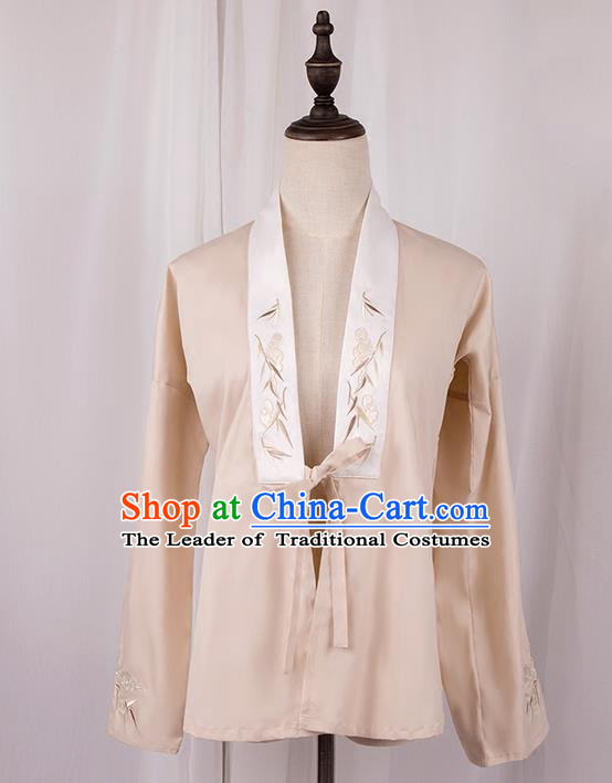 Traditional Chinese Ming Dynasty Young Lady Costume, Elegant Hanfu Clothing Embroidered Cardigan, Chinese Ancient Princess Clothing for Women