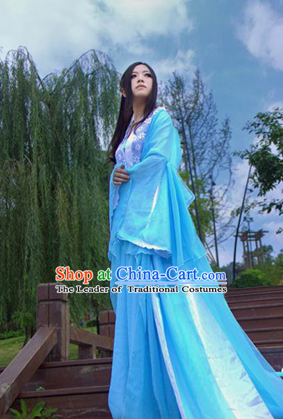 Traditional Chinese Cosplay Peri Costume, Chinese Ancient Hanfu Tang Dynasty Imperial Consort Dress Clothing for Women