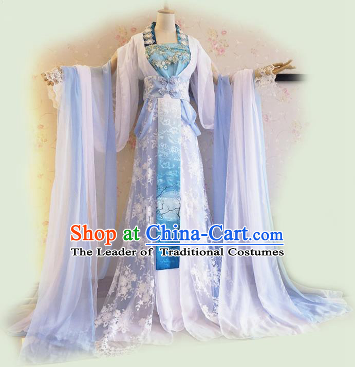 Traditional Chinese Cosplay Imperial Consort Fairy Costume, Chinese Ancient Printing Hanfu Tang Dynasty Princess Dress Clothing for Women