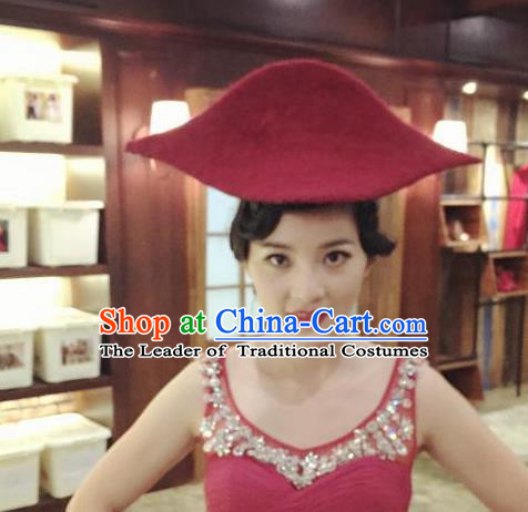 Top Grade Chinese Theatrical Luxury Headdress Ornamental Red