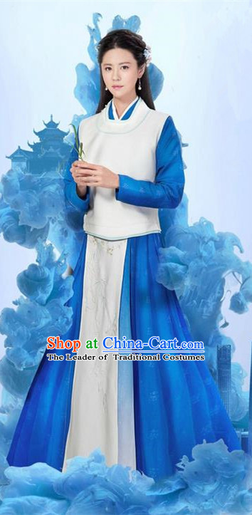 Traditional Ancient Chinese Palace Lady Costume and Headpiece Complete Set, Chinese Ming Dynasty Imperial Princess Dress Clothing for Women