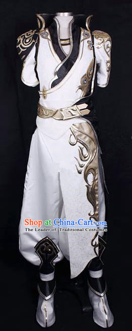 Asian Chinese Traditional Cospaly Han Dynasty Customization Swordsman Costume, China Elegant Hanfu Knight-errant Embroidered Clothing for Men