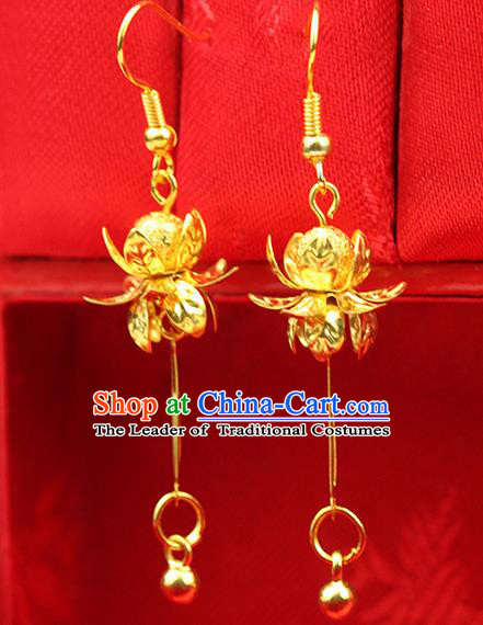 0b516489e9145 Chinese Ancient Style Hair Jewelry Accessories Wedding Golden Tassel ...
