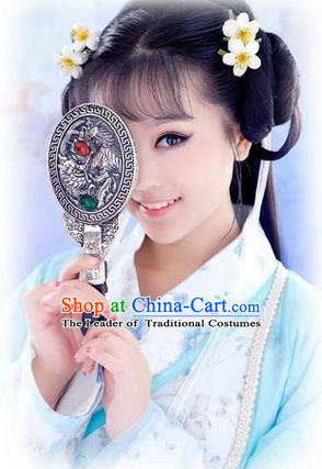 Asian Chinese Photography Props Ancient Bronze Mirror Imperial Consort Mirror for Women