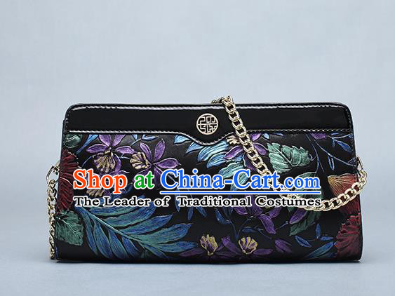 Traditional Handmade Asian Chinese Element Clutch Bags Shoulder Bag National Knurling Chain Handbag for Women