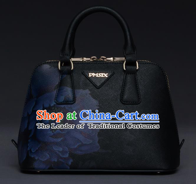 Traditional Handmade Asian Chinese Element Printing Messenger Bags Shoulder Bag National Evening Dress Handbag for Women