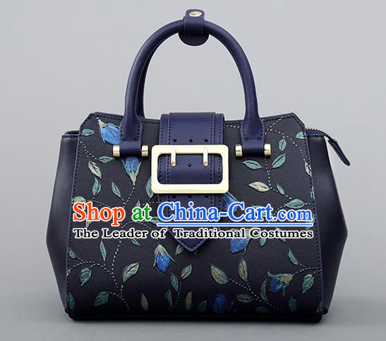 Traditional Handmade Asian Chinese Element Clutch Bags Shoulder Bag National Knurling Leather Handbag for Women