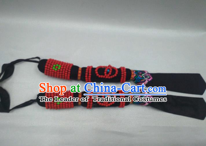 Traditional Handmade Chinese Mongol Nationality Handmade Chain Hammer, China Mongols Mongolian Minority Nationality Hair Accessories Headwear for Women