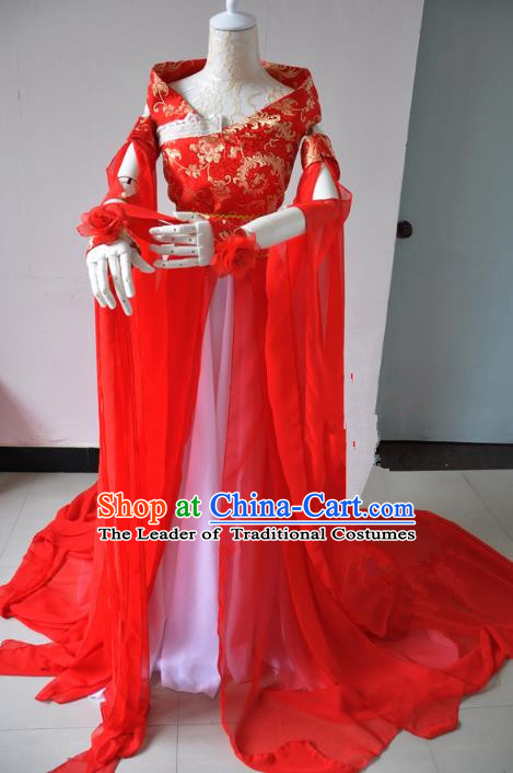 Chinese Ancient Cosplay Princess Wedding Costumes, Chinese Traditional Clothing Chinese Cosplay Knight Costume for Women