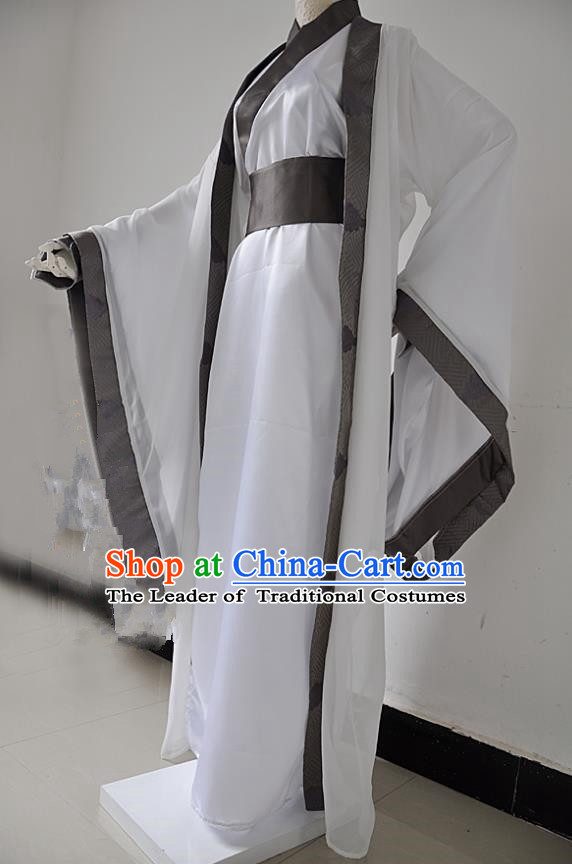 Chinese Ancient Cosplay Swordsman Costumes, Chinese Traditional Clothing Chinese Cosplay Knight Robe Costume for Men