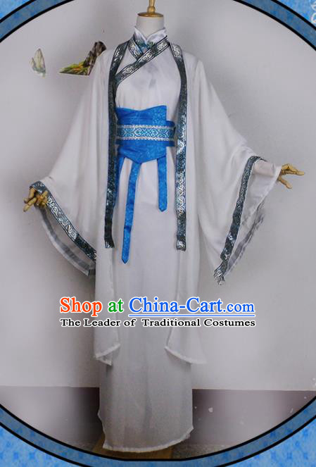 Chinese Ancient Cosplay Han Dynasty Prince Costumes, Chinese Traditional Hanfu Dress Clothing Chinese Royal Highness Costume for Men