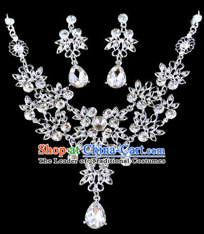 Top Grade Handmade Chinese Classical Jewelry Accessories Baroque Style Crystal Necklace and Earrings for Women