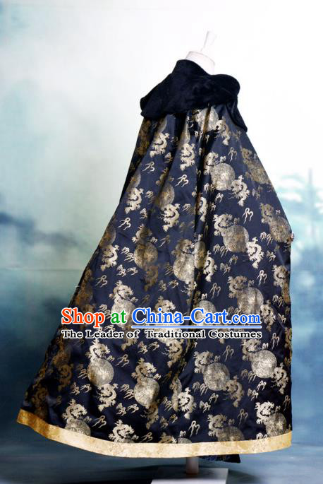 Traditional Chinese Imperial Emperor Costume Cloak, China Ancient Ming Dynasty Jiang hu Swordsman Cape Clothing for Men