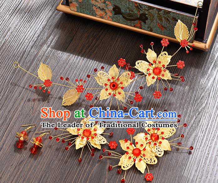 Traditional Handmade Chinese Ancient Classical Hair Accessories Xiuhe Suit Hair Clasp, Hair Sticks Hair Jewellery Hair Fascinators for Women