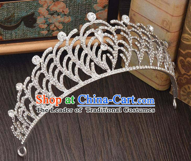 Top Grade Handmade Hair Accessories Baroque Style Wedding Crystal Royal Crown, Bride Princess Hair Kether Jewellery Imperial Crown for Women