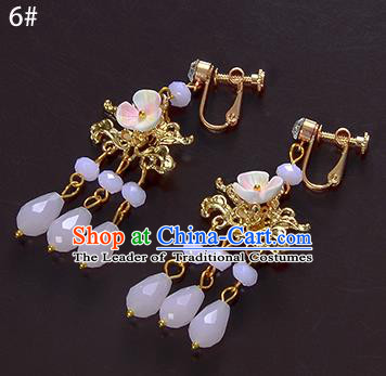 Top Grade Handmade Chinese Classical Jewelry Accessories Xiuhe Suit Wedding Pink Beads Tassel Earrings Bride Hanfu Eardrop for Women