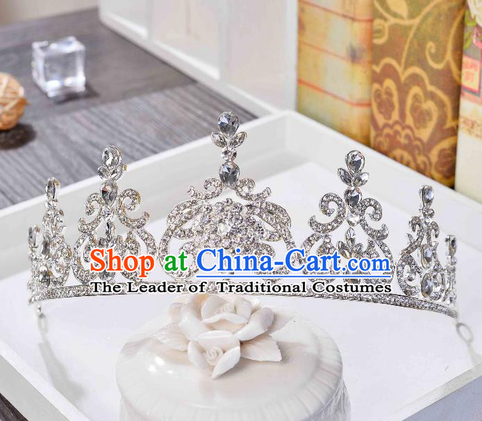 Top Grade Handmade Hair Accessories Baroque Luxury Crystal Royal Crown, Bride Wedding Hair Kether Jewellery Princess Imperial Crown for Women