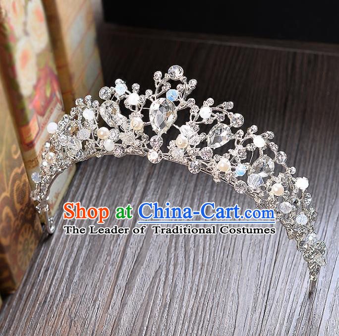 Top Grade Handmade Hair Accessories Baroque Style Princess Full Dress Crystal Royal Crown, Bride Wedding Hair Kether Jewellery Imperial Crown for Women