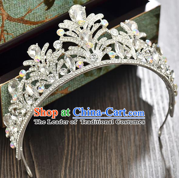 Top Grade Handmade Hair Accessories Baroque Princess Crystal Royal Crown, Bride Wedding Hair Kether Jewellery Imperial Crown for Women