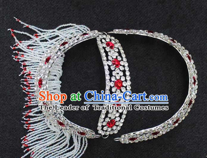 Traditional China Beijing Opera Young Lady Hair Accessories Diva Head-ornaments, Ancient Chinese Peking Opera Hua Tan Headwear