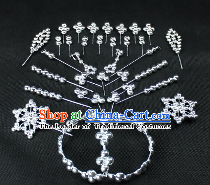 Traditional China Beijing Opera Young Lady Hair Accessories Diva Head-ornaments Complete Set, Ancient Chinese Peking Opera Hua Tan Headwear Hairpins