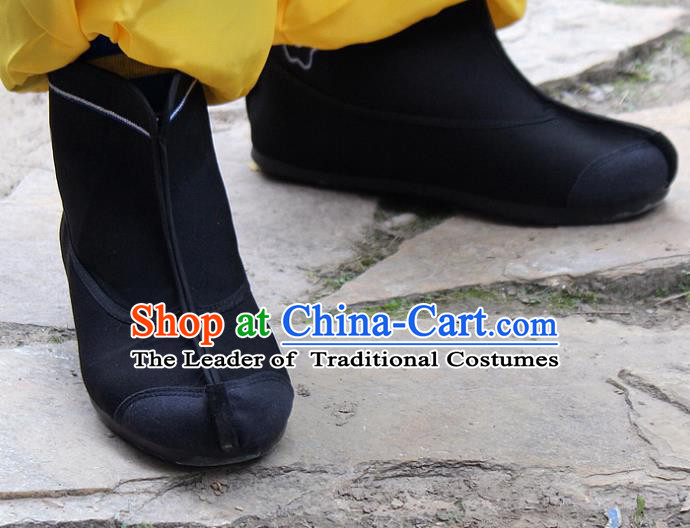 Traditional China Beijing Opera Takefu Shoes, Ancient Chinese Peking Opera Warrior Boots