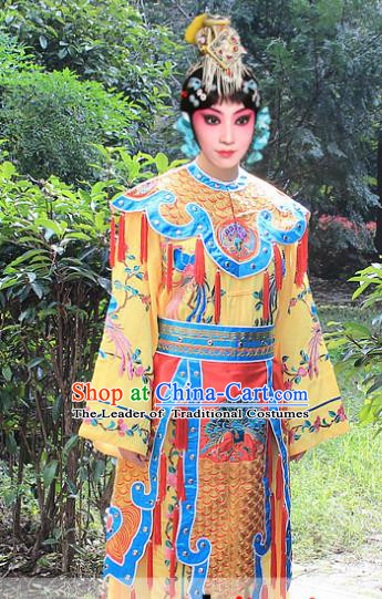Traditional China Beijing Opera Young Lady Costume Swordplay Embroidered Robe and Headwear, Ancient Chinese Peking Opera Blues Embroidery Dress Clothing