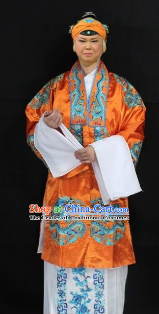 Traditional China Beijing Opera Old Women Costume Empress Dowager Embroidered Cape, Ancient Chinese Peking Opera Pantaloon Embroidery Dress Clothing