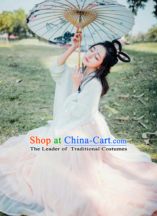 Traditional Chinese Tang Dynasty Imperial Princess Costume, Elegant Hanfu Clothing Chinese Ancient Palace Lady Fairy Dress Clothing