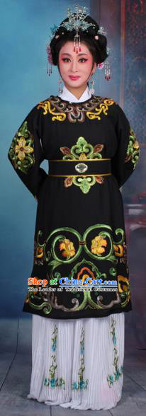 Traditional China Beijing Opera Old Women Costume Matchmaker Embroidered Black Clothing, Ancient Chinese Peking Opera Pantaloon Dress Clothing
