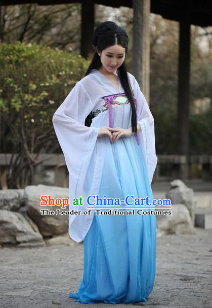Traditional Ancient Chinese Imperial Consort Costume, Elegant Hanfu Chinese Tang Dynasty Imperial Empress Embroidered Dress for Women