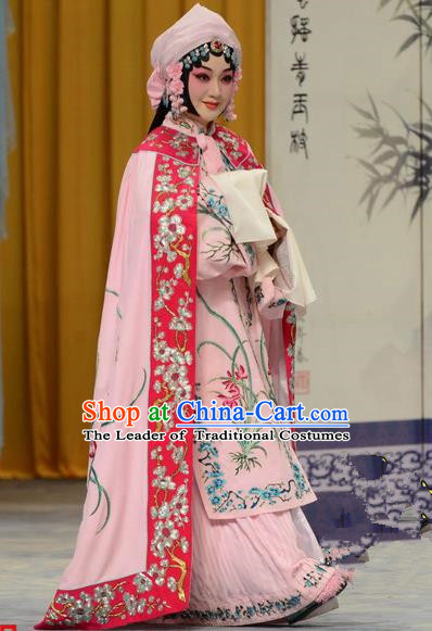 Top Grade Professional Beijing Opera Palace Lady Costume Hua Tan Embroidered Cloak, Traditional Ancient Chinese Peking Opera Diva Embroidery Mantle