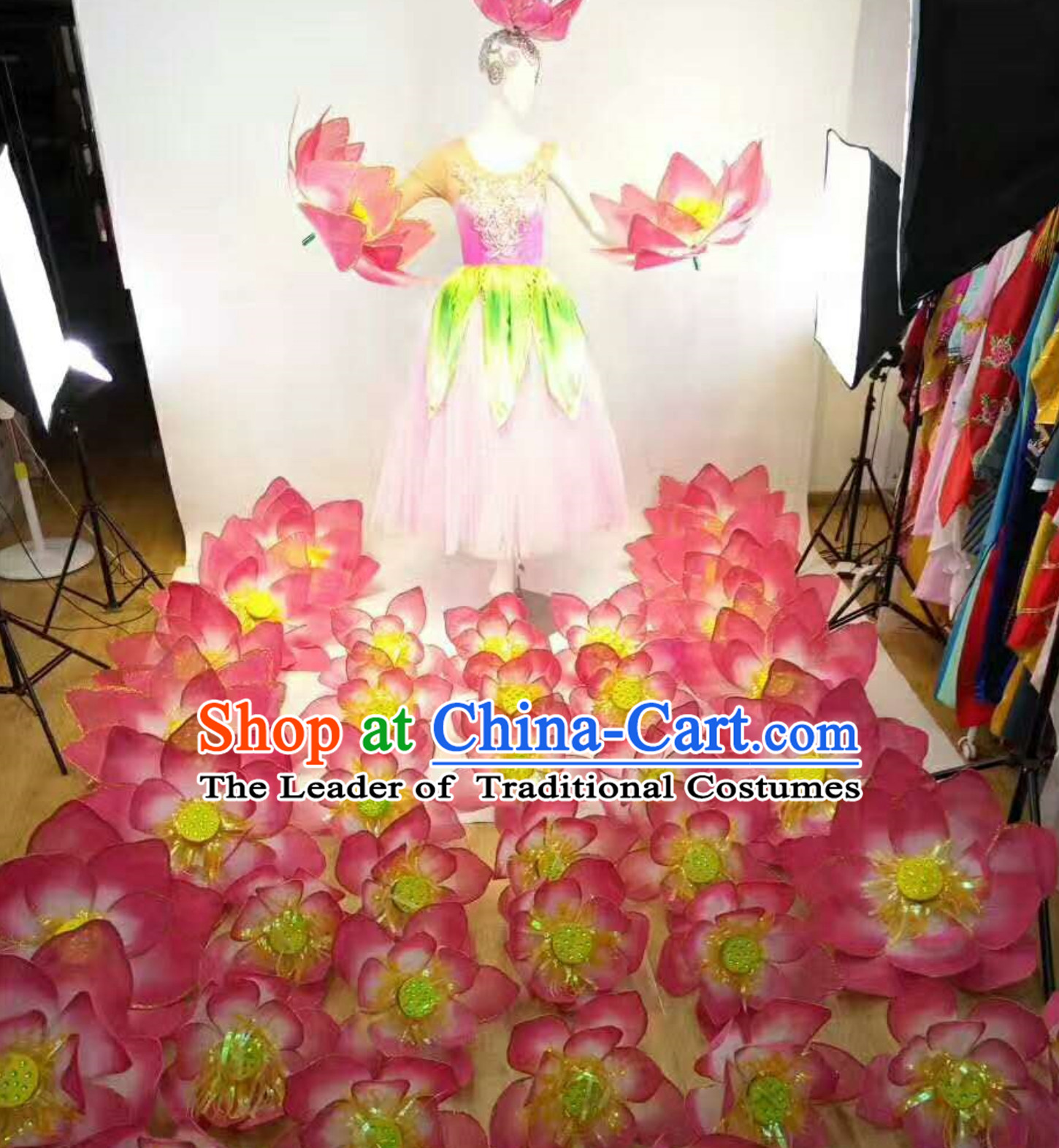 Professional Stage Performance Costumes Made to Order Custom Tailored Costume Garment and Headpieces Complete Set