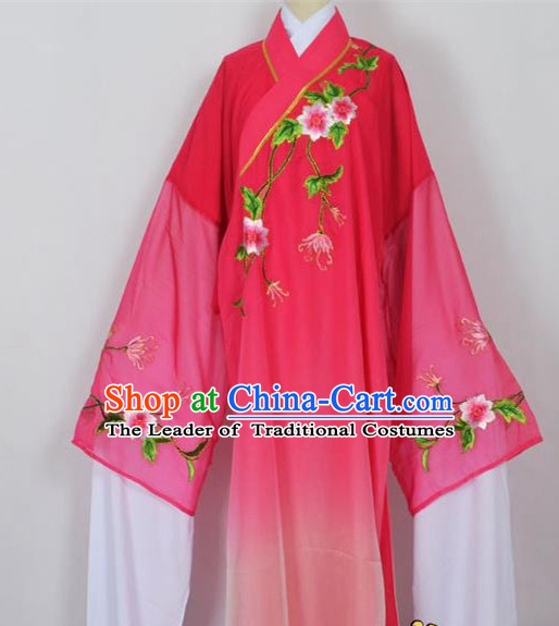 Traditional Chinese Professional Peking Opera Young Men Niche Water Sleeve Costume Rosy Embroidery Robe, China Beijing Opera Nobility Childe Scholar Embroidered Clothing