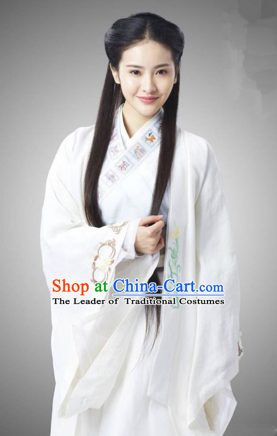 Traditional Chinese Song Dynasty Princess Costume and Headpiece Complete Set, China Ancient Infanta Hanfu Dress Clothing for Women